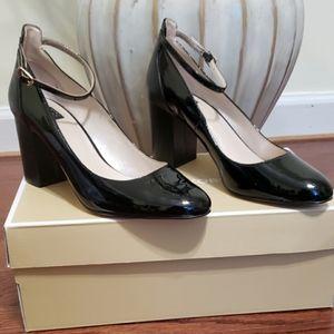 White House Black Market Erika Patent Block Heels